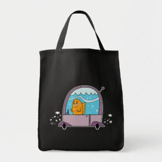 Fish Driving a Car - Grocery Tote