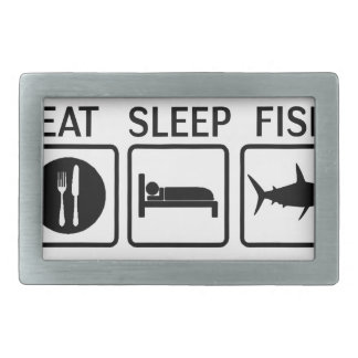 fish eat sleep belt buckle