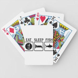 fish eat sleep bicycle playing cards