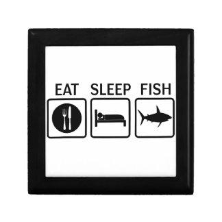 fish eat sleep keepsake boxes