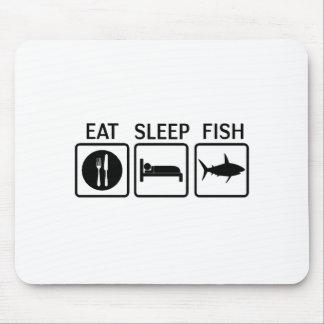 fish eat sleep mouse pad