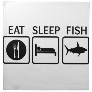 fish eat sleep napkin