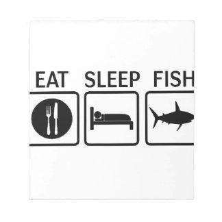 fish eat sleep notepad