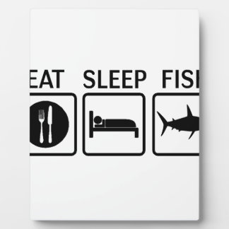 fish eat sleep plaque