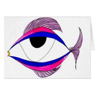 Fish Eye Notecard