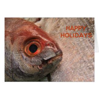 Fish Face Greeting Card