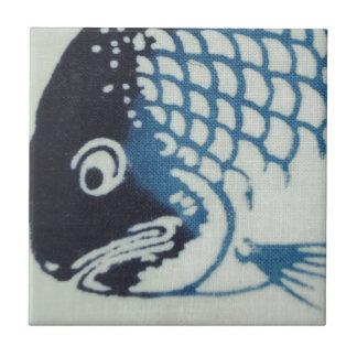 Fish Face - Japanese Fish Ceramic Tiles