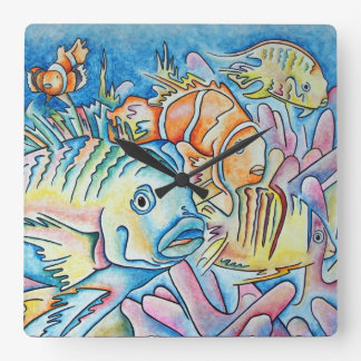 Fish Fantasy Wall Clocks