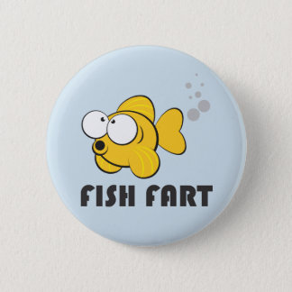 Fish Fart Badge 2 Inch Round Button