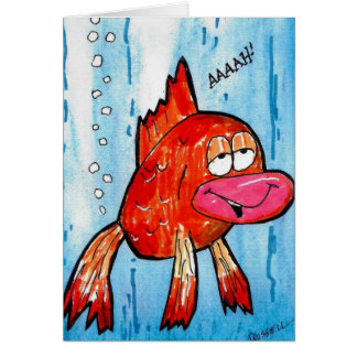 Fish Fart get well card