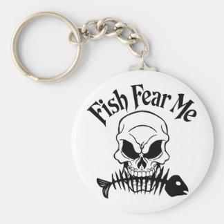 Fish Fear Me Key Chain