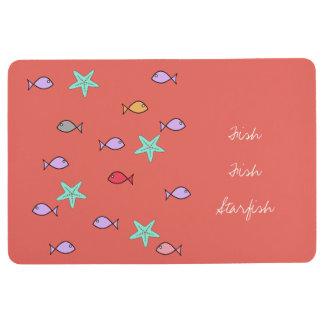 Fish Fish Starfish Funky Floor Mat