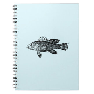 Fish Fisherman Sea Collection Notebook