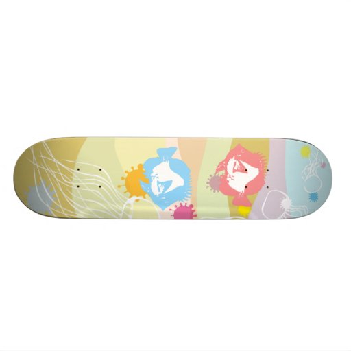 Fish fishes skateboards