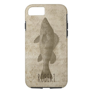 Fish Fishing Vintage Rustic Perch Fisherman iPhone 8/7 Case