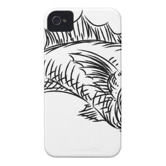 Fish Food Grunge Style Hand Drawn Icon iPhone 4 Cases