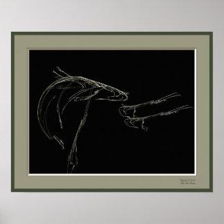 Fish Fractal Poster
