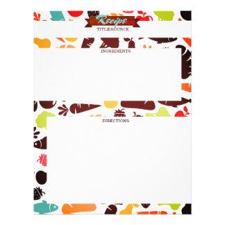 Fish fruit vegetable bread food recipe letterhead