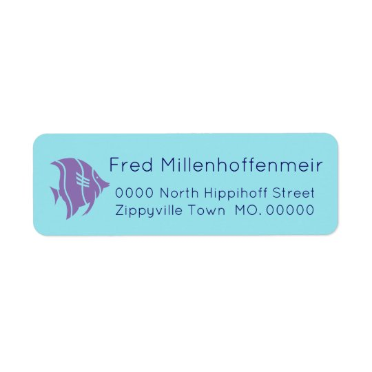 Fish Fun Address Label