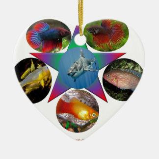 fish,goldfish,carp, fishing, sea, ocean, animal ceramic ornament