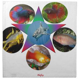 fish,goldfish,carp, fishing, sea, ocean, animal napkin