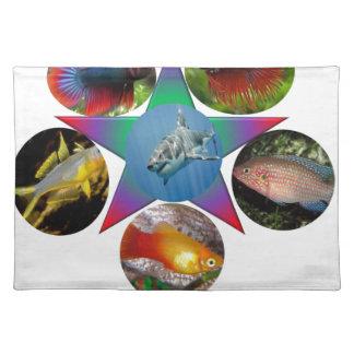 fish,goldfish,carp, fishing, sea, ocean, animal placemat