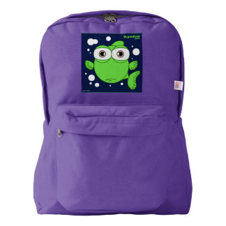 Fish(Green) Backpack, Amethyst Backpack