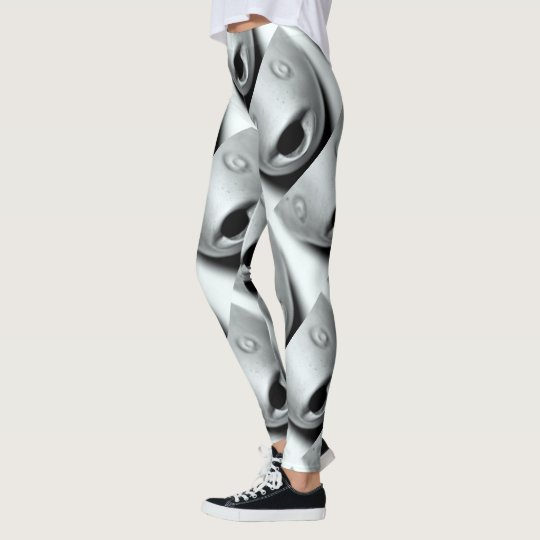 fish heads grey leggings