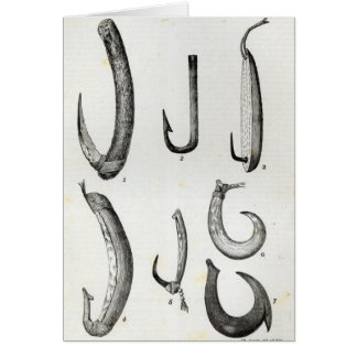 Fish-hooks of Prehistoric and Uncivilised Card