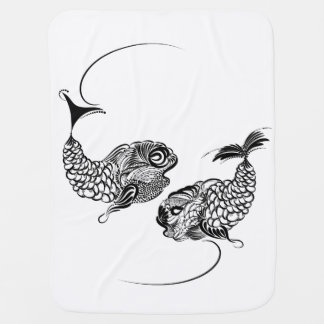 Fish Horoscope, Zodiac, Pisces Baby Blanket