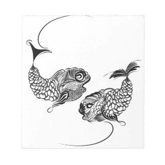 Fish, Horoscope, Zodiac, Pisces Notepad
