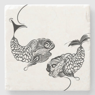Fish, Horoscope, Zodiac, Pisces Stone Coaster