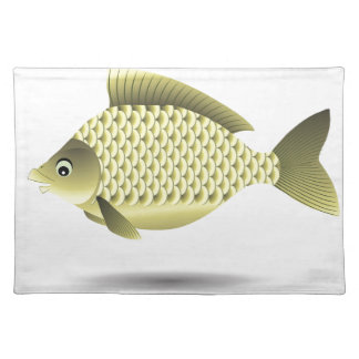 fish icon placemat