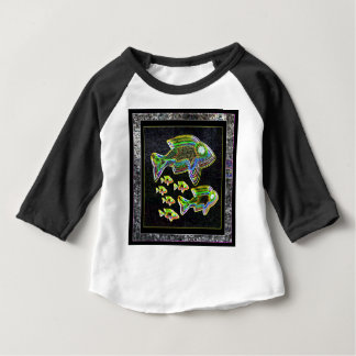 FISH Illuminated graphic artistic design pets Baby T-Shirt