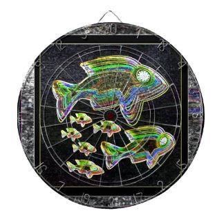 FISH Illuminated graphic artistic design pets Dartboard