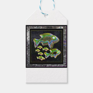 FISH Illuminated graphic artistic design pets Gift Tags