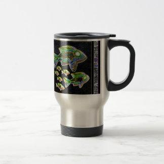 FISH Illuminated graphic artistic design pets Travel Mug