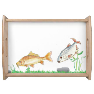 Fish images on a tray