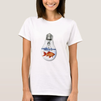 Fish in a Light Bulb Aquarium T-Shirt