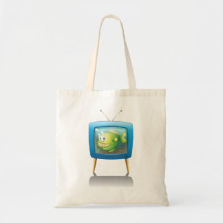 Fish In A Television Tote Bag