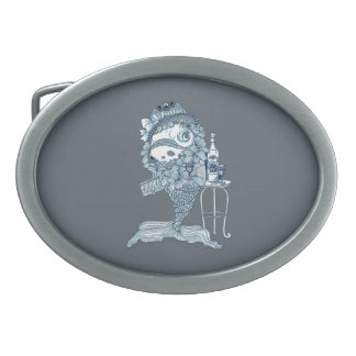 Fish in Costume Oval Belt Buckles