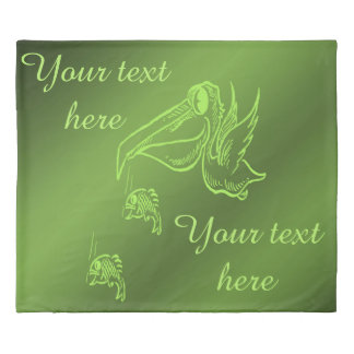 fish in green name template duvet cover