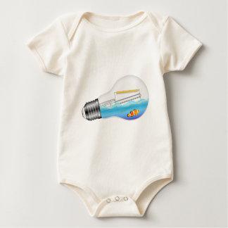 Fish in Lightbulb Baby Bodysuit