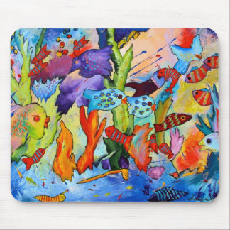 Fish in Our Garden Mouse Pad