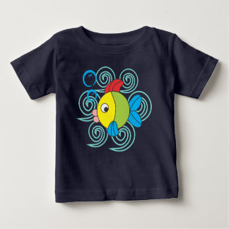 fish in the waves baby T-Shirt