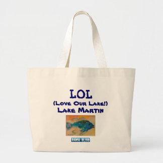 "Fish Jumbo Tote Bag ""LOL Lake Martin"""