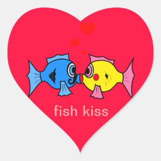 Fish Kiss heart Sticker