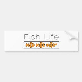 Fish Life Bumper Sticker