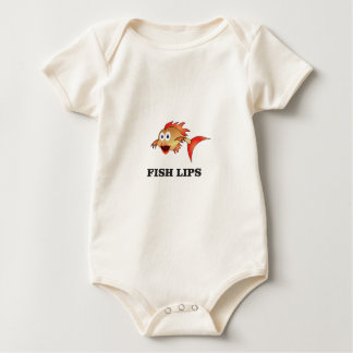 fish lips baby bodysuit