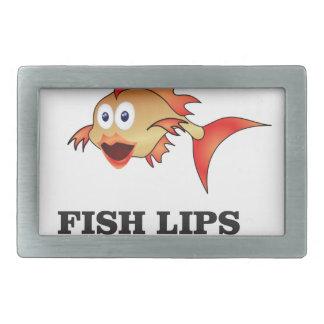 fish lips belt buckles